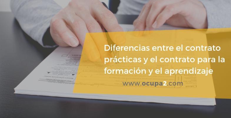 diferencias entre los contratos de prácticas y formación y aprendizaje