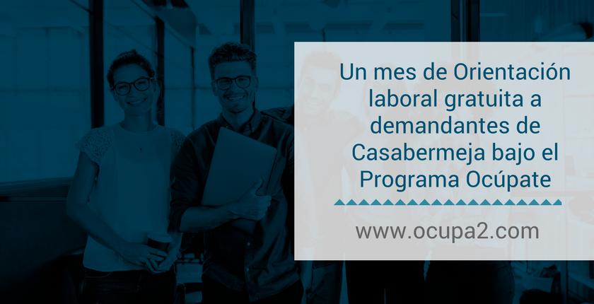 Un mes de Orientación laboral gratuita a demandantes de Casabermeja bajo el Programa Ocúpate