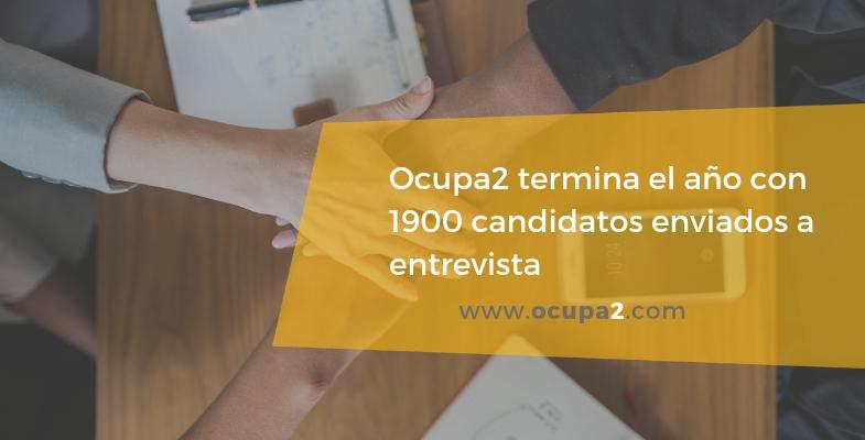 Ocupa2 termina el año con 1900 candidatos enviados a entrevista