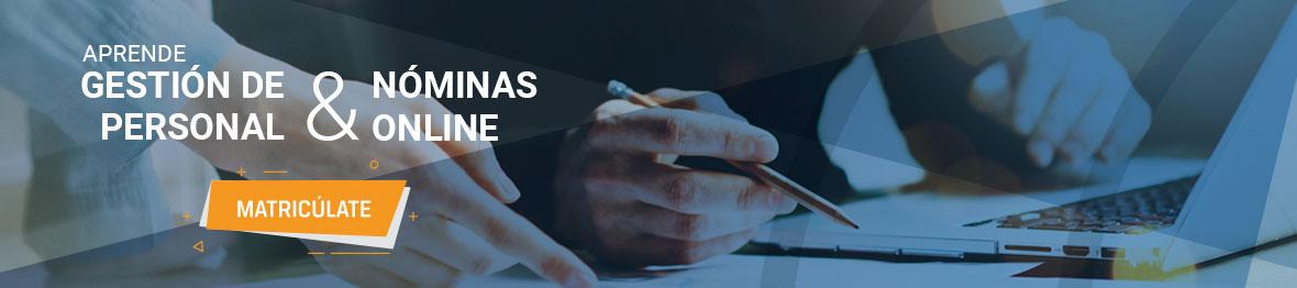 curso gestión de personal y nóminas online ¡Matricúlate!