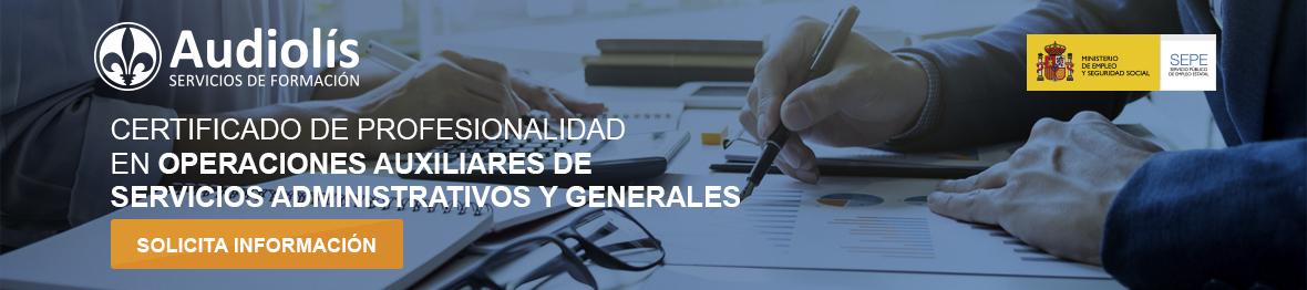 solicitar información del certificado de profesional de operaciones auxiliares de servicios administrativos y generales