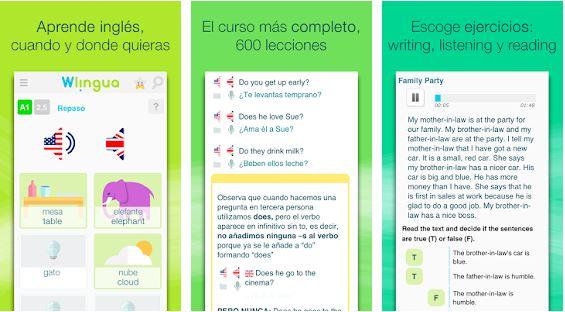 Wlingua - App para aprender Inglés